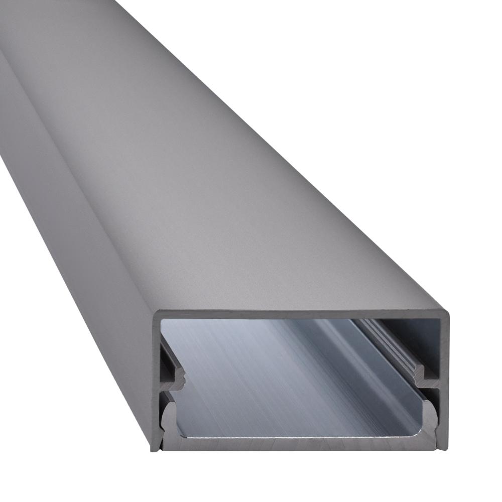 Design TV /& HiFi Kabelkanal aus Aluminium getrennte Kammern verschiedene L/ängen mit Endst/ücken von ALUFINE/® 50 cm, ALU Hochglanz